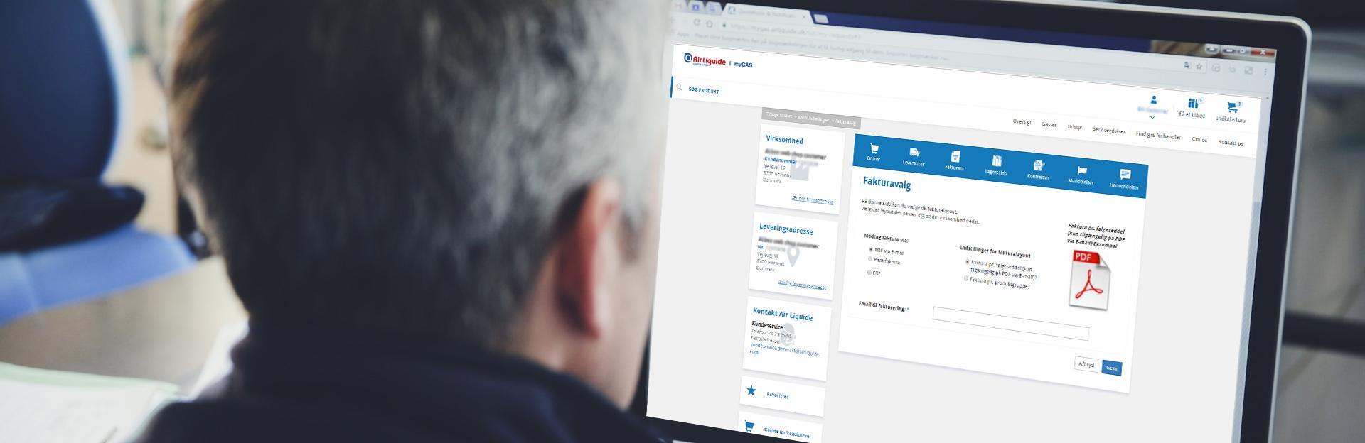 E-postfakturering | myGAS | Air Liquide