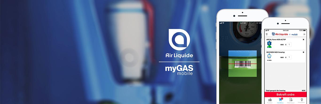 myGAS mobilapp - bestill gass når og hvor du vil | myGAS | Air Liquide