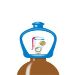 alphagaz™ 1 helium flaske smartop l50
